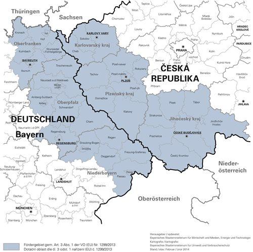 Mapa dotačního území